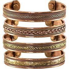 copper bracelet images Set of 4 tibetan copper bracelets magnetic india jpg