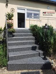 steinteppich balkon balkonsanierung abdichtung saarland treppe saar balkon m t polyester