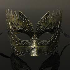 vintage women men party plastic halloween masks fancy party roman