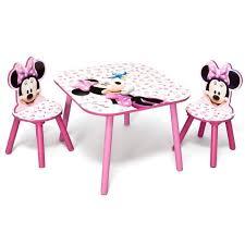 minnie ensemble table et 2 chaises bois enfant et