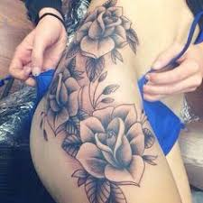 thigh hip rose tattoo tattoo inspiration pinterest thighs