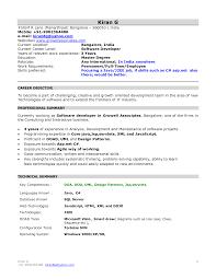 Sample Resume Format For 1 Year Experience In Java by Vb Sql Programmer Sample Resume Substation Apprentice Cover Letter