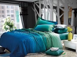 Premium Bedding Sets Premium Cotton Reversible Duvet Quilt Covers Turquoise Blue Apple