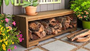 Outdoor Wood Bench With Storage Plans by Build A Bench With Firewood Storage