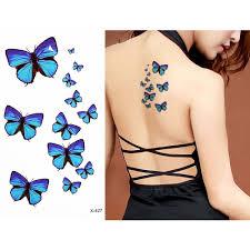1 sheet colored flower butterfly pattern design