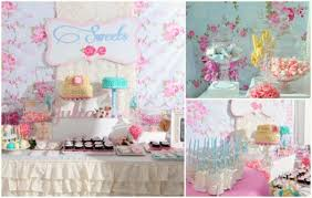 a shabby chic book themed party by sweet nest candy buffet one