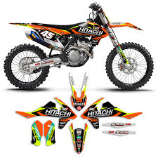 motocross bikes on ebay 2016 2017 ktm sx sxf 125 450 team hitachi motocross graphics dirt