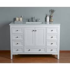 White Bathroom Vanity 48 Inch by Wyndenhall Windham Soft White 48 Inch 2 Door 2 Drawer Bath Vanity