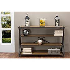 wood and metal console table amazon com ameriwood home 5352096com castling wood console table