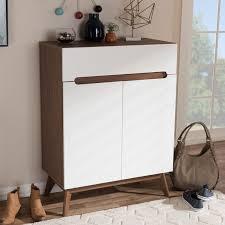 mid century storage cabinet mid century walnut shoe storage cabinet reviews joss main