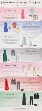 dress code for wedding destination wedding dress code decoded wedding