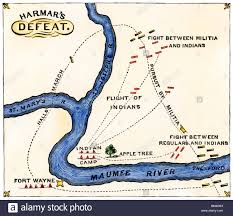 Har Map Map Of General Harmar U0027s Defeat By The Miami And Shawnee At Fort