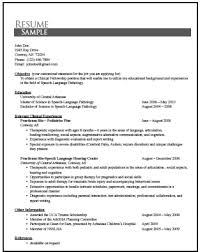 unusual slp resume examples 5 examples of resume templatesdirect