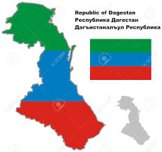 Blank Map Of Russia by Outline Map Of Dagestan With Flag Regions Of Russia Vector
