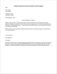 what to include in a commercial lease termination letter 5 samples