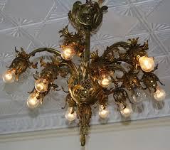 antique lights for sale twelve light antique cast iron and brass chandelier for sale