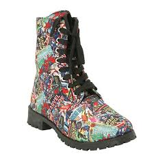 womens combat boots size 12 amazon com marvel womens print combat boot mid calf