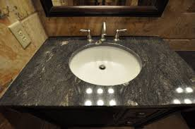 bathroom design and decoration using black granite laminated