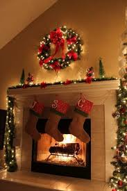Chimney Decoration Ideas 27 Inspiring Christmas Fireplace Mantel Decoration Ideas Digsdigs