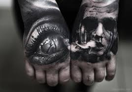 horror tattoo on hand tattoo designs tattoo pictures