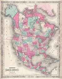 United States Canada Map by File 1864 Johnson Map Of North America Canada United States