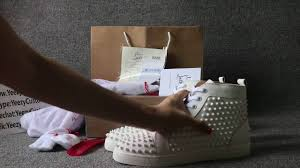 red bottom christian louboutin men flat shoes all white leather