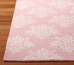 pink rug for princess themed nursery or toddler room fit for a