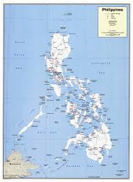 Political Map Asia by Large Detailed Political Map Of Philippines With Roads Cities