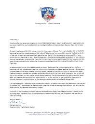 Thank You Letter Veterans thank you letter veterans gallery letter format formal sle