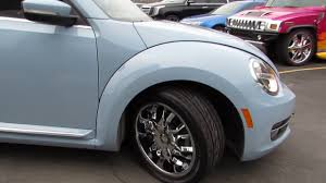 volkswagen bug wheels 2015 volkswagen beetle with custom 18 inch chrome rims u0026 tires