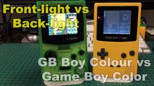 Colour Color Gb Boy Colour Vs Gameboy Color Youtube