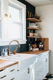 modern kitchen open shelves our diy kitchen remodel natural honest artistic the brauns