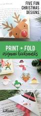 printable christmas origami bookmarks origami bookmark