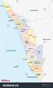 Map India Kerala District Map India Stock Vector 404034700 Shutterstock