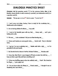 dialogue tags and end punctuation practice worksheet by h shah teaches