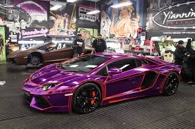 wrapped cars ksi u0027s purple chrome wrapped lamborghini racemebro