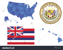 Hawaii State Map by Vector Illustration Hawaii State Contains High Stock Vector