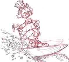 vendetta z original sketch uncle scrooge surfing on money