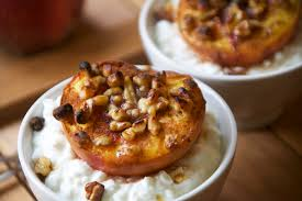 Cottage Cheese Dessert by Honey Walnut Broiled Peaches With Cottage Cheese The Pescetarian