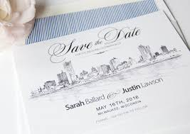wedding save the date cards milwaukee skyline save the date cards