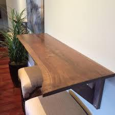walnut breakfast bar table custom live edge black walnut breakfast bar built by snhwoodworks