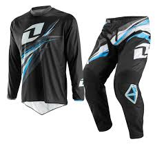 one industries motocross helmet one industries 2014 atom forma black blue mx jersey pants