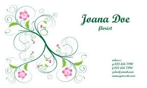 floral business card floral business card template free vector clipart me