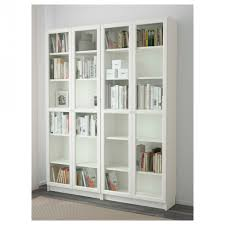 White Bookcase With Doors Ikea Living Room Billy Oxberg Bookcase White Glass 160x202x30 Cm Ikea