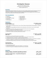 Sample Resume For Receptionist Receptionist Resume Template 7 Free Word Pdf Document Download