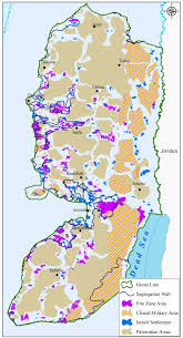 West Bank Map Monitoring Israeli Colonization Activities In The Palestinian