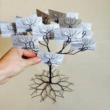 wedding wishing trees wedding wishing tree business card holder display stand and