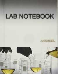 lab notebook 100 carbonless pages permanent side bound copy page