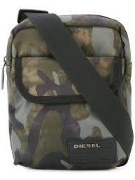 Cheap Name Brand Clothes For Men Biodiesel Diesel Camouflage Print Shoulder Bag Men Bags Diesel