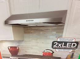 presenza italia 30 in under cabinet range hood in stainless steel